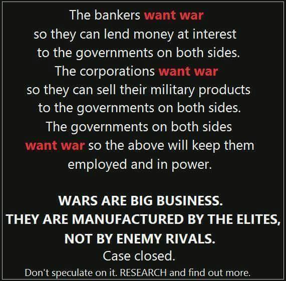 War is big business